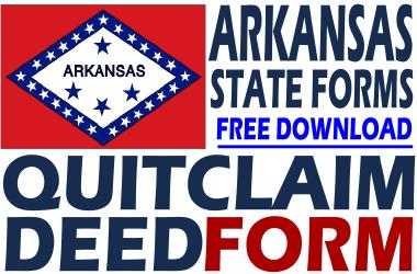Arkansas Quit Claim Deed Form