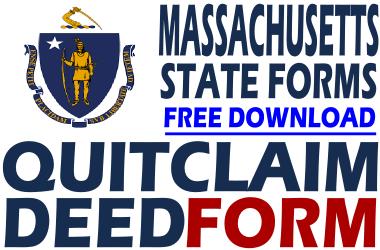 Massachusetts Quit Claim Deed Form