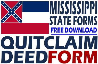 Mississippi Quit Claim Deed Form