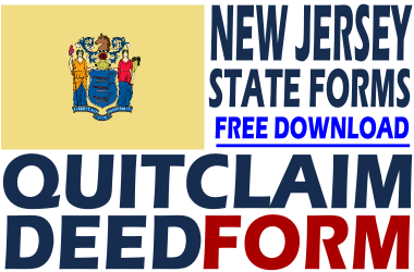 New Jersey Quit Claim Deed Form