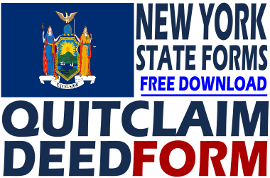 New York Quit Claim Deed - Free Quit Claim Deed Form