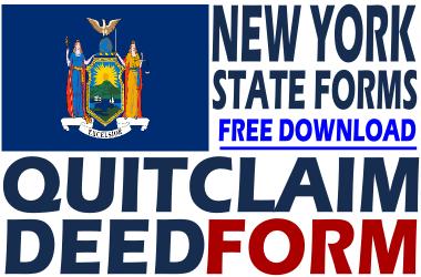 New York Quit Claim Deed Form