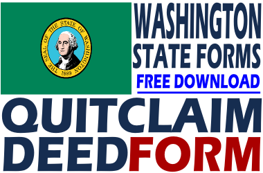 Washington Quit Claim Deed Form