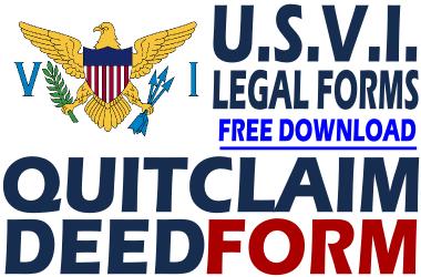 Virgin Islands Quit Claim Deed Form