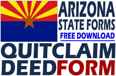 picture about Printable Quit Claim Deed named Arizona Prevent Declare Deed - No cost Stop Declare Deed Type