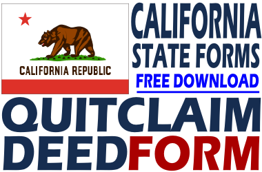 California Quit Claim Deed Form