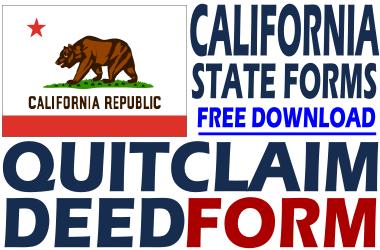 California Quit Claim Deed Form