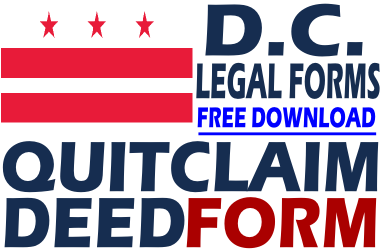 District of Columbia Quit Claim Deed Form