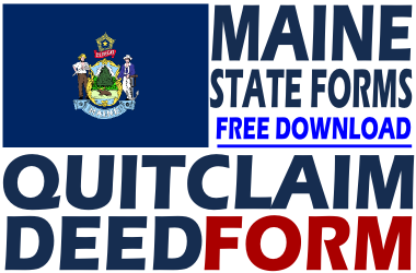 Maine Quit Claim Deed Form