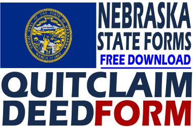 Nebraska Quit Claim Deed Form