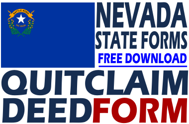 quit claim deed form nevada  Nevada Quit Claim Deed - Free Quit Claim Deed Form