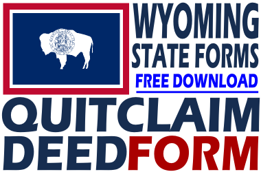 Wyoming Quit Claim Deed Form