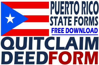 Puerto Rico Quit Claim Deed Form